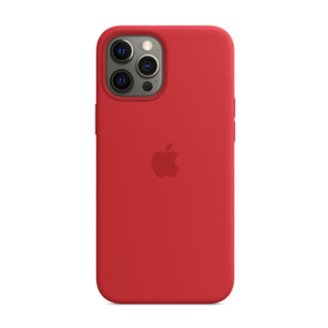 Picture of Apple iPhone 12 Pro Max Silicone Case with MagSafe - (PRODUCT)RED