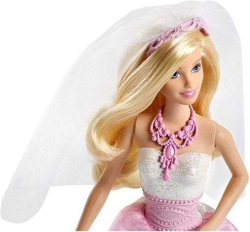 صورة باربي دمية ترتدي أزياء عروسة ملكية