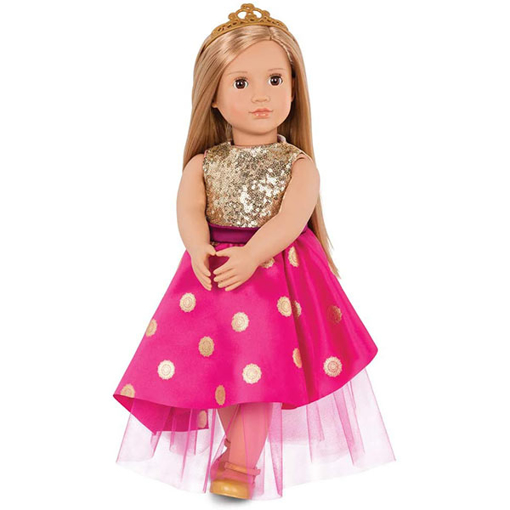 صورة Our Generation Doll Sarah With Festive Dress & Tiara