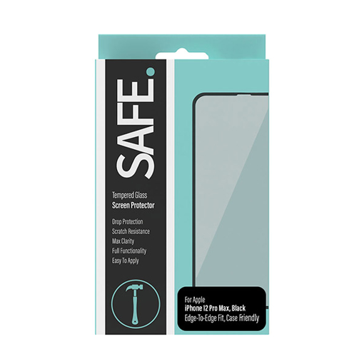Picture of SAFE Screen Protector For iPhone 12 Pro Max Case Friendly - Black