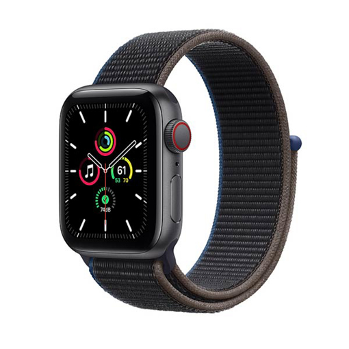 Picture of Apple Watch SE GPS + Cellular, 40mm Space Gray Aluminium Case with Charcoal Sport Loop