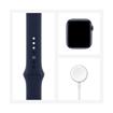 صورة ابل واتش الاصدار 6 44 GPS + Cellular ،ازرق ،هيكل الومنيوم ،Deep Navy Sport Band