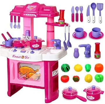 الصورة: عدة مطبخ كبيرة للاطفال للعب
