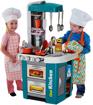 صورة لعبة مجموعة مطبخ تالنتد شيف، مع صنبور ماء جاري وموقد بنيران ضوئية ومجموعة صوت