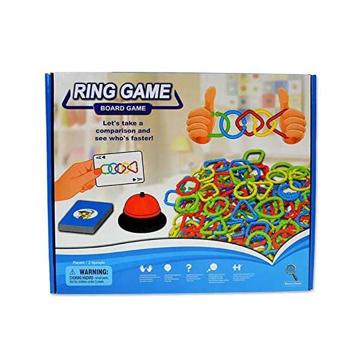 الصورة: 72 قطعة لعبة لوحية حلقية تفاعلية، لعبة تطوير ذكاء للاطفال والكبار