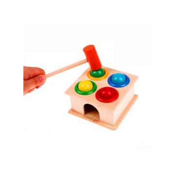 Picture of Wooden Hammering Game Box With Balls - ZK01-08