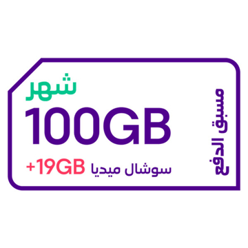 Picture of STC QuickNet 100 GB for 1 Months + 19 GB Social (Data)