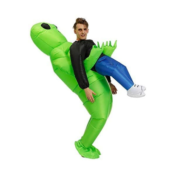 Picture of Limodo Inflatable ET Monster Costume Scary Green Alien