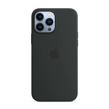 Picture of Apple iPhone 13 Pro Max Silicone Case with MagSafe - Midnight