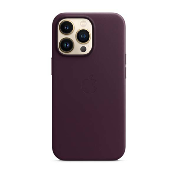 Picture of Apple iPhone 13 Pro Leather Case with MagSafe - Dark Cherry