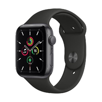 Picture of Apple Watch SE GPS, 44mm Space Gray Aluminium Case with Midnight Sport Band