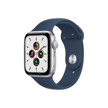 Picture of Apple Watch SE GPS, 44 mm Silver Aluminium Case with Abyss Blue Sport Band
