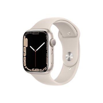 Picture of Apple Watch Series 7 GPS, 45mm Starlight Aluminium Case with Starlight Sport Band