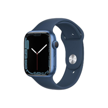 Picture of Apple Watch Series 7 GPS, 45mm Blue Aluminium Case with Abyss Blue Sport Band